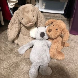 Jellycat Bunny, dog, koala